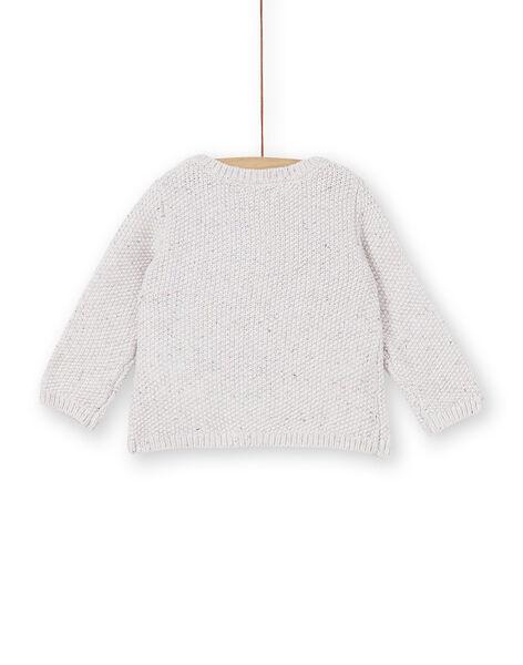 Gilet en tricot beige bébé fille KILUCAR2 / 20WG09P2CAR001
