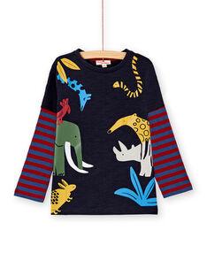 T-shirt 2 en 1 marine et rayé enfant garçon KOSATEE3 / 20W902O1TMLC243