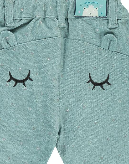 Pantalon en velours fantaisie bébé fille DIGIPAN / 18WG09N1PAN205