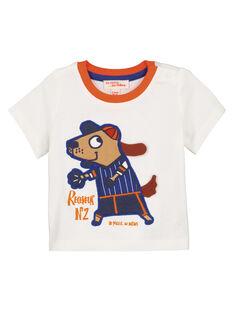 Tee Shirt Manches Courtes Ecru GUSANTEE2EX / 19WG10C1TMC001