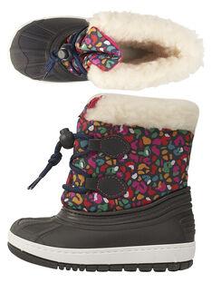 Après ski multicolore léopard bébé fille  GBFMONTNEA / 19WK37W1D3N070