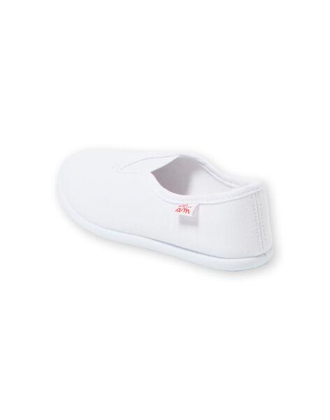 Chausson de gymnastique rythmique mixte blanc GFRYTHMIQ2 / 19WK35B1D09000