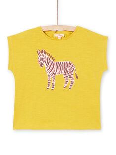T-shirt manches courtes, imprimé zèbre à paillettes LAJOTI11 / 21S901F9D31G606