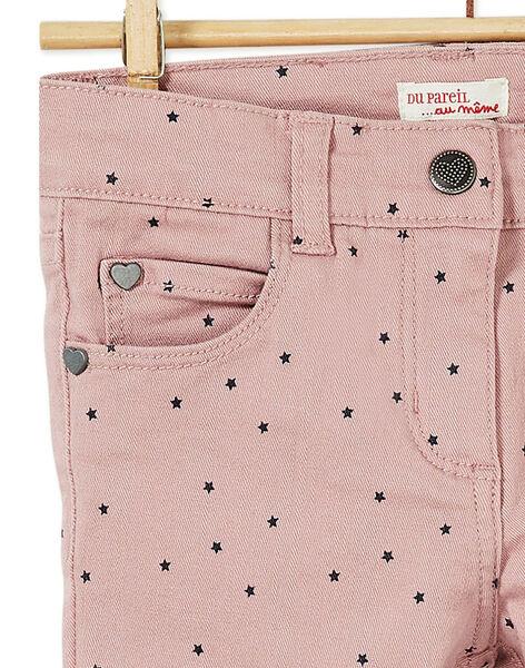 Pantalon garment dyed, tâcheté léopard rose KAJOPANT3 / 20W90131D2B303