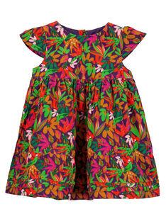 Robe imprimée en velours layette fille GIVIOROB2 / 19WG09R1ROB708