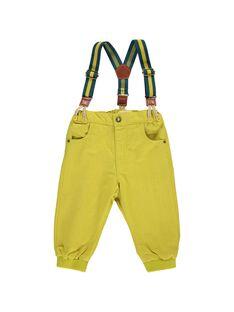 Pantalon à bretelles bébé garçon DUVEPAN1 / 18WG1071PAN605