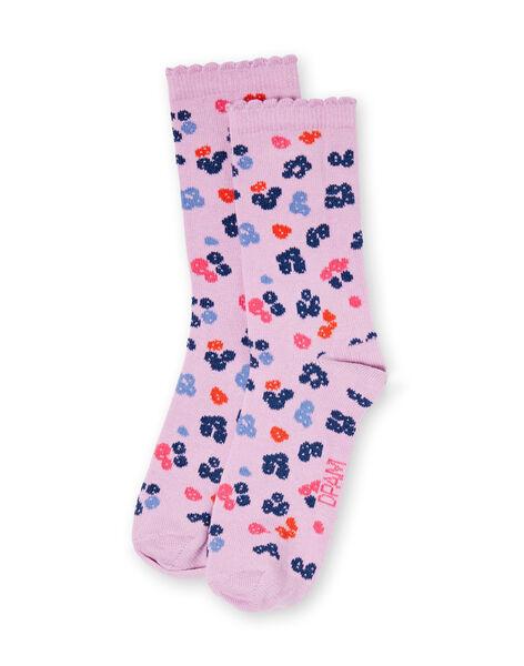 Paire de chaussettes enfant fille LYABLECHO / 21SI01J1SOQ320