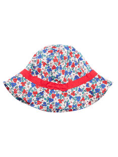 Chapeau enfant fille avec motif fleurs  JYAJAHAT2 / 20SI01B2CHA001