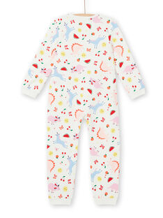 Surpyjama enfant fille en molleton gratté imprimé fantaisie LEFACOMBDI / 21SH1111D4F001