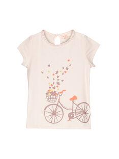 Tee-shirt manches courtes fille FAJOUTEE / 19S901T1TMC307