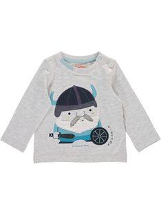 Tee-shirt manches longues bébé garçon DUGITEE1 / 18WG10N1TML001