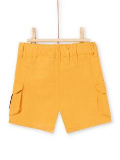 Bermuda jaune moutarde bébé garçon LUTERBER3 / 21SG10V3BERB106