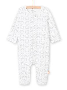 Grenouillère blanche imprimé fantaisie naissance mixte LOU2GRE4 / 21SF05I2GRE000