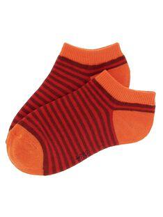 Chaussettes basses rayées garçon CYOJOCHO10A / 18SI02S7SOQF513