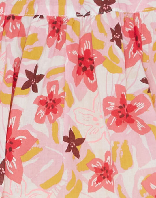 Jupe réversible fleurie et uni JADUJUP / 20S901O1JUP001