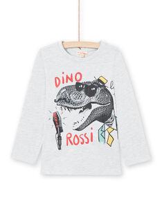 T-shirt gris chiné enfant garçon MOJOTEE1 / 21W90228TMLJ920