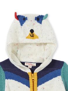 Gilet en tricot colorblock bébé garçon KULUGIL1 / 20WG10P1GIL001