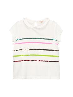 Tee-shirt col Claudine fille FACABRAS / 19S901D1BRA000