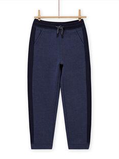 Pantalon de jogging bleu chiné enfant garçon MOJOJOB4 / 21W90213JGB222