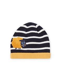 Bonnet à rayures bleu marine bébé garçon MYUMIXBON1 / 21WI1052BONC234