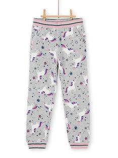 Pantalon de jogging gris chiné, imprimé licorne LAJOBAJOG1 / 21S90141D2A943