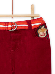 Pantalon et ceinture à rayures bébé garçon MUFUNPAN1 / 21WG10M1PAN504
