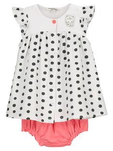 Ensemble robe et bloomer bébé fille FOU2ROB / 19SF05J1ROB000