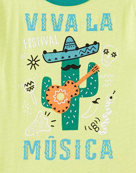 T-shirt manches courtes jaune motif cactus enfant garçon JOMARTI5 / 20S902P5TMC103