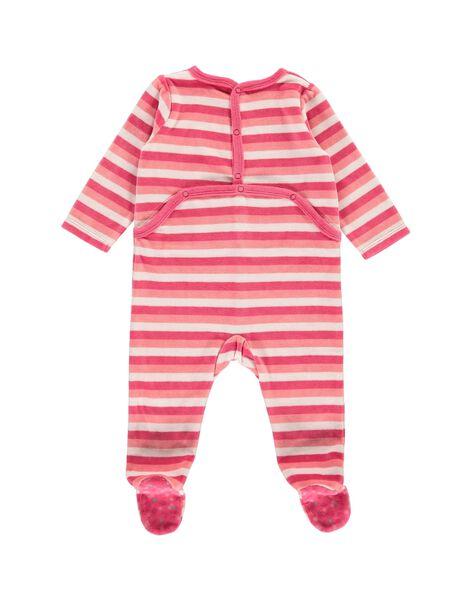 Dors-bien en velours bébé fille CEFIGRECHA / 18SH1341GRE099