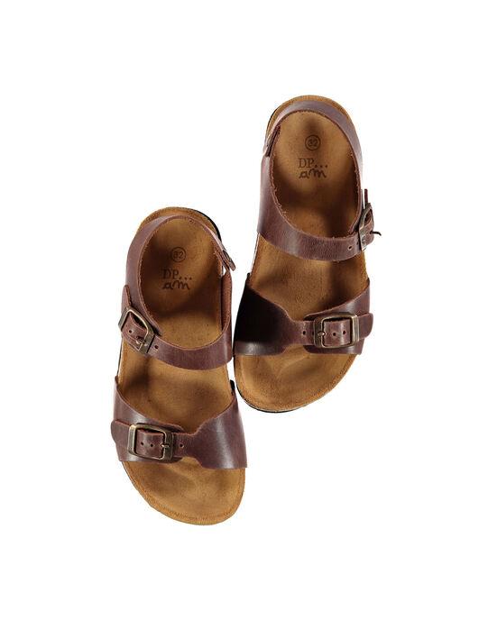 Sandale ville en cuir garçon FGNUBOUCL2 / 19SK36D7D0E802