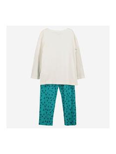 Pyjama en coton fille FEFAPYJGIR / 19SH1142PYJ001