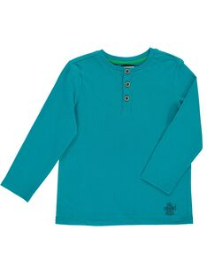 Tee Shirt Manches Longues Turquoise DOJOTUN6 / 18W9023DD32C217