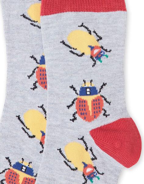 Paire de chaussettes enfant garçon  LYOROUCHO2 / 21SI02K1SOQJ922