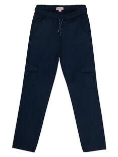 Pantalon maternel elastiqué avec poches cotés marine JOJOPAMAT1 / 20S90254D2B705