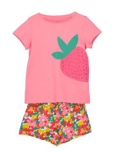 Pyjama short fille FEFAPYJFRA / 19SH11H2PYJ309