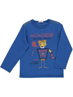 Tee Shirt Manches Longues Bleu DOBLETEE1 / 18W90291TMLC209