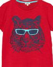 Tee shirt garçon manches courtes rouge tigre JOJOTI4 / 20S90242D31F505