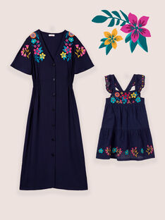 Ensemble Mère x Fille : Robes bleues fleuries
