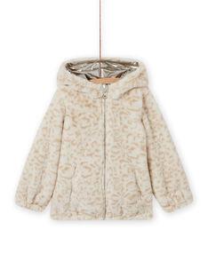 Veste réversible dorée à imprimé léopard enfant fille MAFOUDOUNE / 21W90151D3EA006