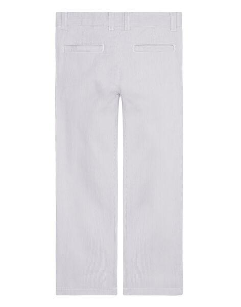 Pantalon garçon de cérémonie fines rayures grises JOPOEPAN / 20S902G1PAN940