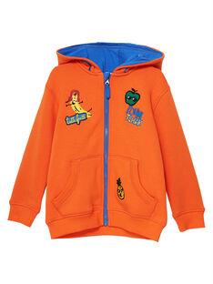 Gilet garçon tout chaud à l'intérieur orange JOVIGIL / 20S902D1GIL406