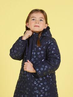 Parka réversible bleu marine en fausse fourrure enfant fille MANUIPARKA / 21W90154PAR070