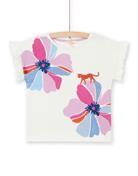 Tee Shirt Manches Courtes Ecru LABLETI / 21S901J1TMC001
