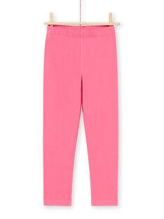Ensemble pyjama chemise de nuit et legging bleu marine et rose enfant fille MEFACHUCAT / 21WH1181CHN070