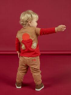 T-shirt rouge avec broderies bébé garçon MUFUNTEE1 / 21WG10M2TMLF512