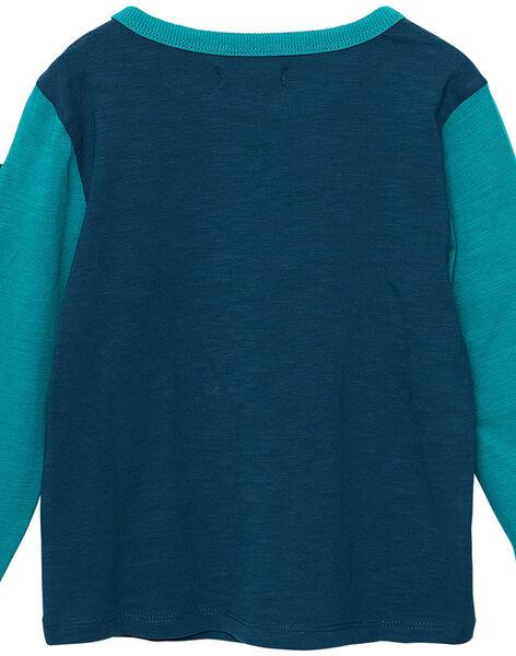 Tee shirt garçon manches longues bicolore cameleon JOCLOTEE2 / 20S90212TML715
