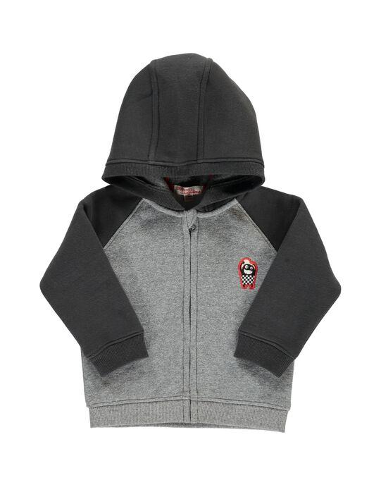 Sweat zippé à capuche bébé garçon DUJOHOJOG1 / 18WG1021JGH099