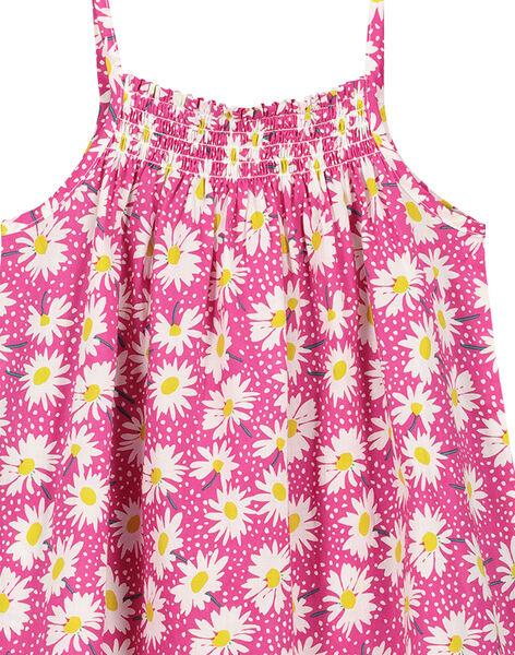 Robe à fleurs en coton été fille FAJOROB9 / 19S901G1ROB712
