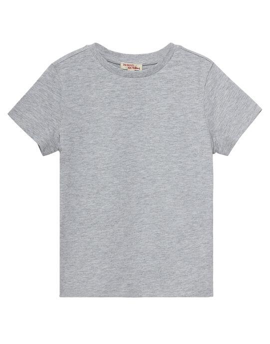 Tee shirt manches courtes garçon uni gris chine JOESTI3 / 20S90263D31J922