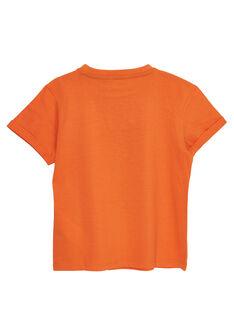 T-shirt manches courtes orange motif banane enfant garçon JOMARTI2 / 20S902P2TMCE405